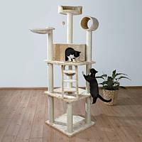 """Игровой комплекс с когтеточкой """"Монтилья"""" для кошек и котят, 197см, бежевый."""