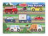 "Пазл ""Вгадай машинку"" NEW (Wooden Peg Puzzle - Vehicles) дерев'яна рамка-вкладиш ТМ Melіssa & Doug MD19051, фото 3"