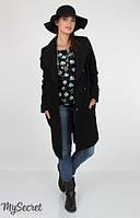 Пальто - кардиган для беременных Cosmo (100% шерсть) р. 44-50 ТМ Юла Мама Черный OW-36.021