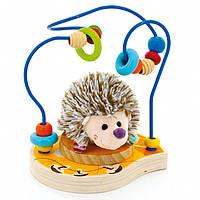 """Пальчиковый лабиринт с мягкой игрушкой """"Ежик"""" для детей от 1 года ТМ """"Игрушки из дерева"""" Д385"""