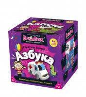 """Познавательная настольная игра Сундучок Знаний """"Азбука"""" для детей от 3 лет ТМ BrainBox 98320"""