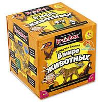 """Познавательная настольная игра Сундучок Знаний """"В мире животных"""" для детей от 8 лет ТМ BrainBox 98302"""