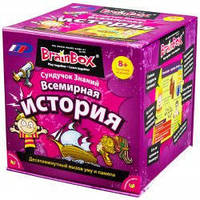 """Познавательная настольная игра Сундучок Знаний """"Всемирная история"""" для детей от 8 лет ТМ BrainBox 98317"""