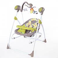 Детское кресло - качалка шезлонг BT-SC-0005 Зеленый. 5 скоростей укачивания. Спинка 3 положения.