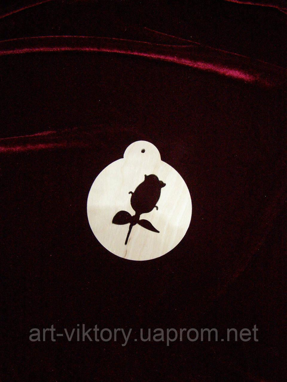 Шар подвес с розой