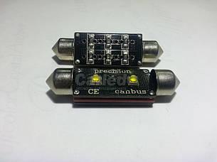 Светодиодная софитная (C10W) автолампа с обманкой 42mm 6w OSRAM Canbus (200Lm)