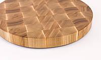Кухонная торцевая разделочная доска Ø55х5,5 см круглая из ясеня 0015