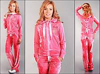 Модный женский спортивный костюм из бархата