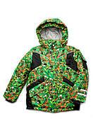 """Утепленная зимняя куртка """"Art green"""" для мальчика 5-8 лет (р. 110-128) ТМ Модный карапуз 03-00667-0"""