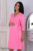 Халат для беременных Sinty (из плотного хлопкового трикотажа) р. 44-50 ТМ Юла Мама розовый NW-4.3.2