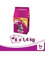 WHISKAS Adult говядина 1.4 kg x6