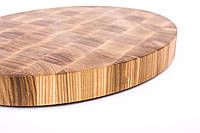 Кухонная торцевая разделочная доска 40х60х5 см овальная из ясеня 0020