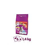WHISKAS Adult говядина 1.4 kg x6 + 6x 85g  Бесплатно!