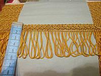 Бахрома декор шовкова золотиста 5 см.