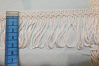 Бахрома декор шовк біла 5 см.