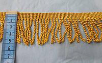 Бахрома кручена золото люрекс 5см.