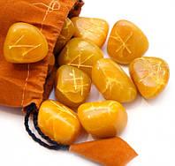 Руны из желтого оникса