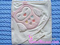 Детское полотенце с уголком, Сова