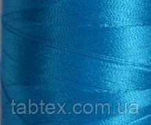 Нитка шелк для машинной вышивки embroidery 120den. №D-152 бирюза 3000 ярд