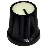 Ручка AG 3 для потенциометра черная с белой вставкой