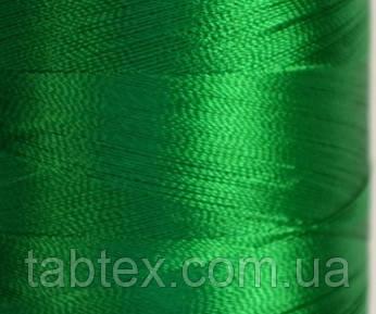 Нитка шелк для машинной вышивки embroidery 120den. №D-174 трава 3000 ярд