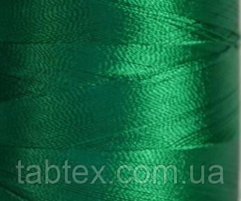 Нитка шелк для машинной вышивки embroidery 120den. №D-176 зеленый 3000 ярд