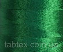Нитка шелк для машинной вышивки embroidery 120den. №D-178 темн.зелен. 3000 ярд