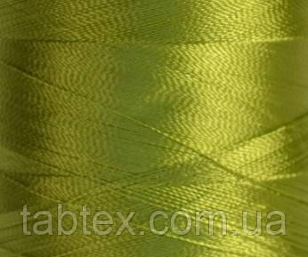 Нитка шелк для машинной вышивки embroidery 120den. №D-223 светл.хаки 3000 ярд
