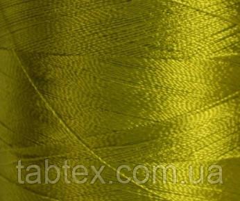 Нитка шелк/ embroidery 120den. №D-445 хаки 3000 ярд