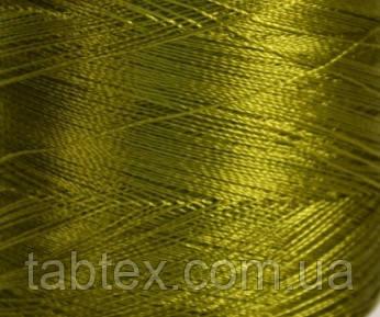 Нитка шелк для машинной вышивки embroidery 120den. №D-450 хаки 3000 ярд