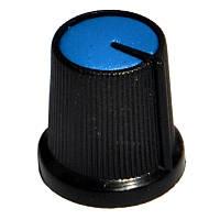 Ручка AG 3 для потенциометра черная с синей вставкой