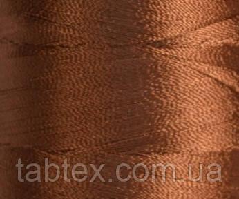 Нитка шелк/ embroidery 120den. №D-333 коричневый 3000 ярд