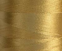 Нитка шелк/ embroidery 120den. №D-384 золото 3000 ярд
