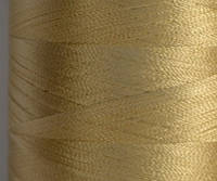 Нитка шелк для машинной вышивки embroidery 120den. №D-382 золото молочн. 3000 ярд
