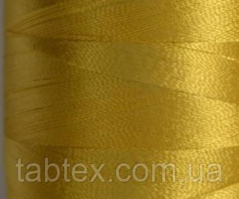 Нитка шовк для машинної вишивки embroidery 120den. №D-390 золото жовтий. 3000 ярд