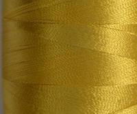 Нитка шелк для машинной вышивки embroidery 120den. №D-390 золото желт. 3000 ярд