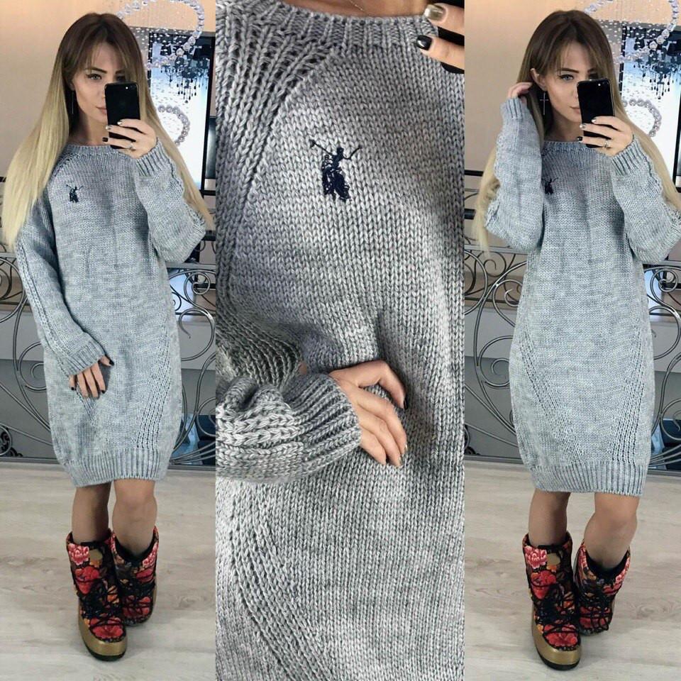 Женское платье из акрила