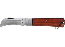 Нож складной, 200 мм, загнутое лезвие, деревянная ручка SPARTA