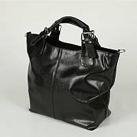 Черная модельная женская сумка шоппер