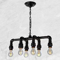 Светильник loft Vintage Industrial [ Black iron ] (водопровод)