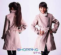 Детское подростковое  пальто Пуговка для девочки