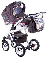 Детская коляска универсальная 2 в 1 Adamex Aspena World Collection Cars (Адамекс Аспена)