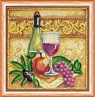 """Набор для вышивания бисером на холсте """"Вино и виноград"""""""
