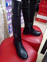 Сапоги женские кожаные на узкую глень евро зима на низком ходу AngelsVi ., фото 2