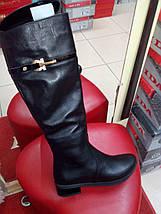 Сапоги женские кожаные на узкую глень евро зима на низком ходу AngelsVi ., фото 3