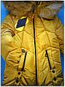 Зимнее пальто куртка на девочку Мишель размер 128 Цвет горчица, фото 2