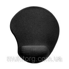 Коврик для мышки SVEN GL009BK гелевый черный с подставкой