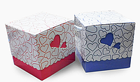 Упаковка для чашек цветная с сердечком (ГОЛУБАЯ)
