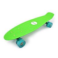 "Penny 27"" Penny Board Longboard Со светящимся колесом Зеленый"