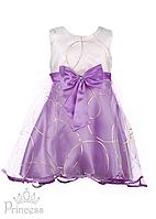 Нарядное детское платье с золотым принтом для девочки